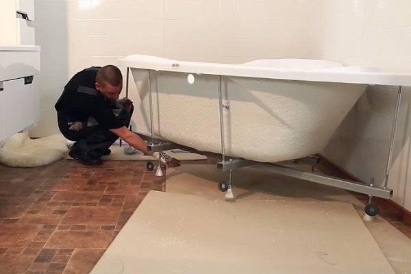 Урок 24. как установить акриловую ванну