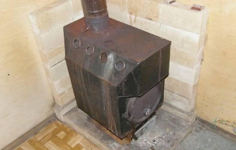 Самодельная печка для отопления гаража