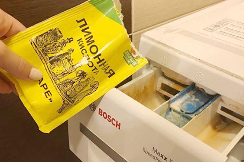 Как почистить стиральную машину лимонной кислотой от накипи и грязи: инструкции, отзывы