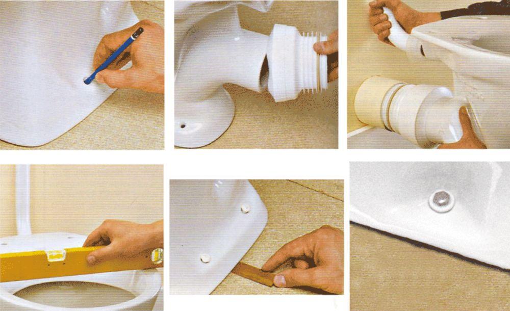 Как установить унитаз на плитку без болтов и сверления: пошагово, фото, видео