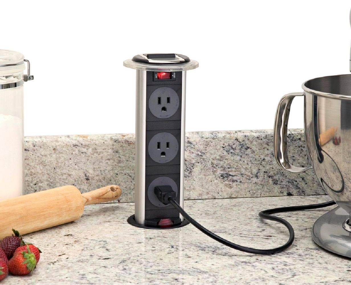 Розетки на кухне - схемы идеального расположения, высоты и количества розеток