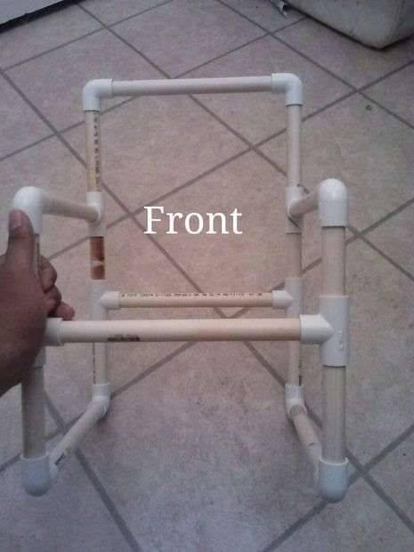 Изготовление мебели из труб пвх, как сделать своими руками
