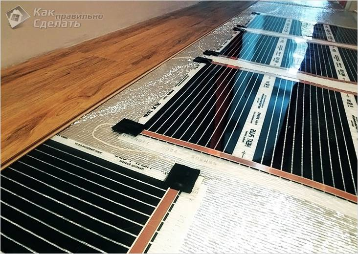 Ламинат для теплого пола: как выбрать электрический из водяного отопления, плюсы и минусы, как класть, цена