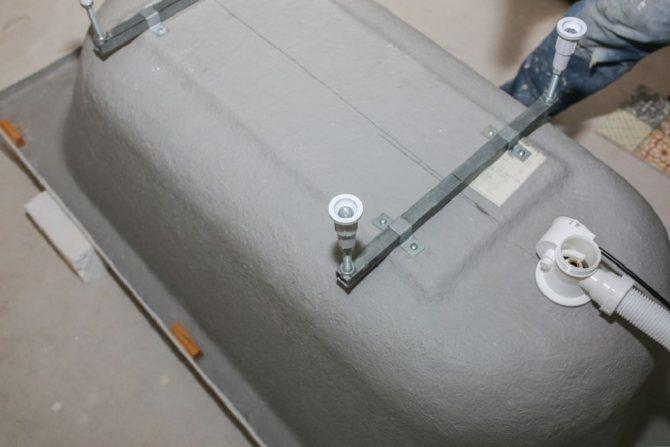 Установка акриловой ванны своими руками: этапы работ