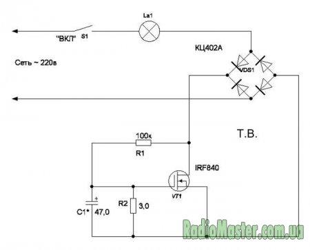 Плавное включение ламп накаливания 220в: схема подключения и устройство