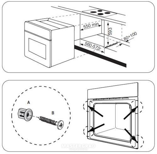 Размещение духового шкафа на кухне (22 фото): можно ли ставить духовку над или рядом с посудомоечной машиной? расположение духовки в углу кухни и другие варианты