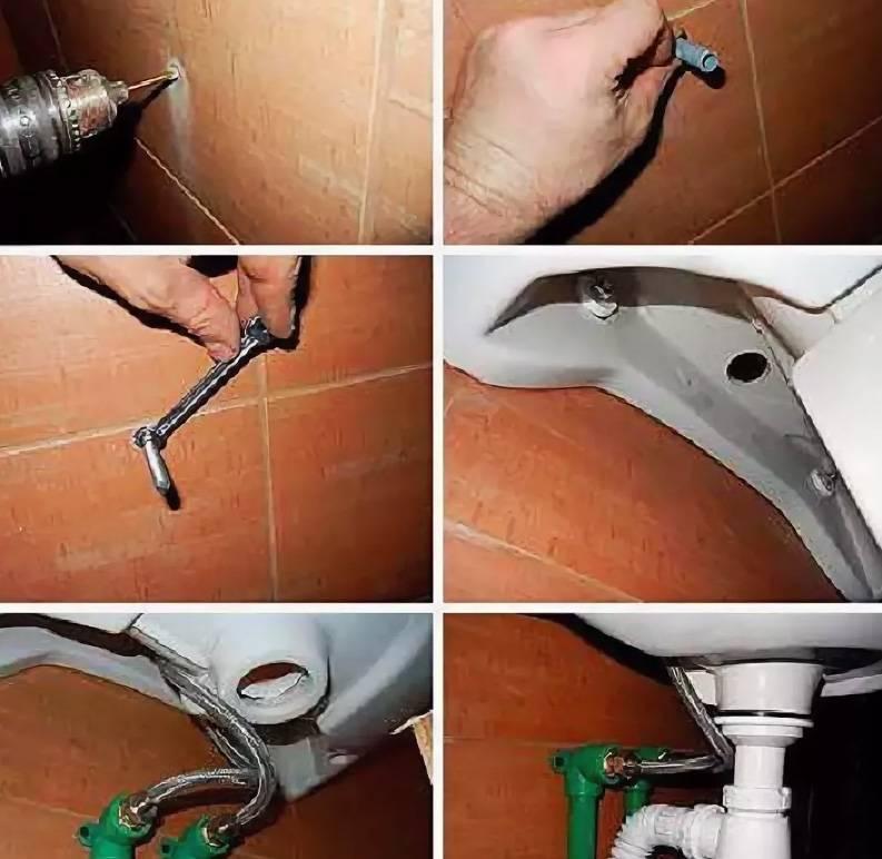 Крепление раковины к стене: подробный поэтапный инструктаж