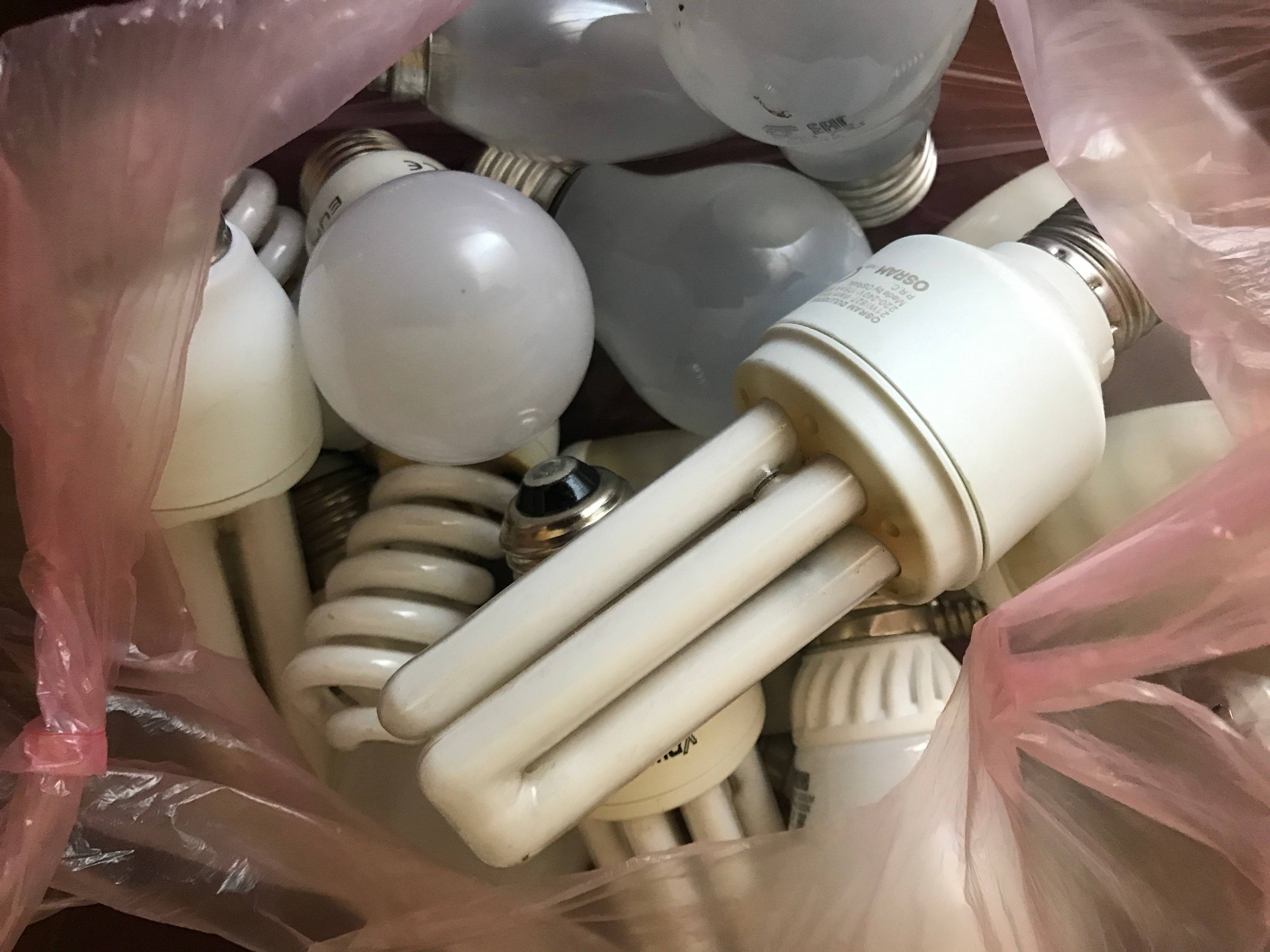Утилизация энергосберегающих ламп