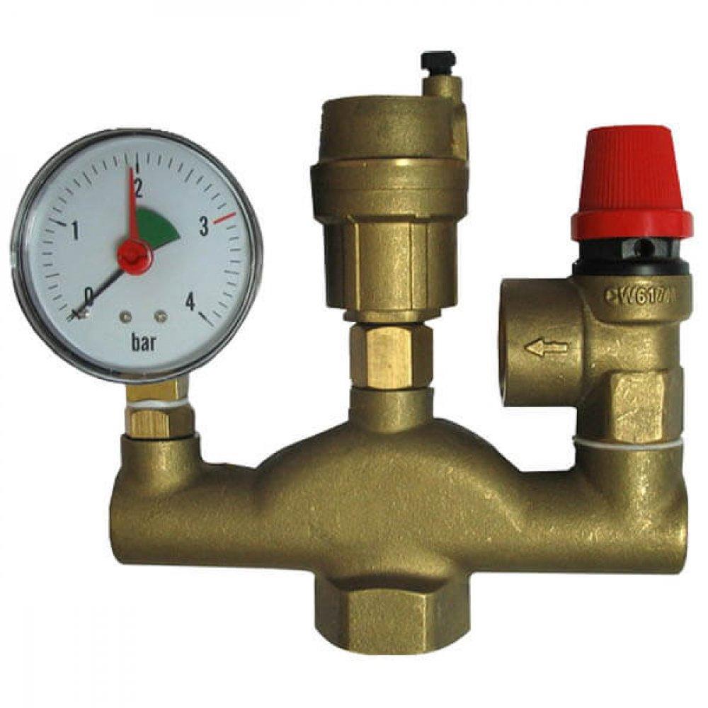 Предохранительный клапан для системы отопления: подбор, установка