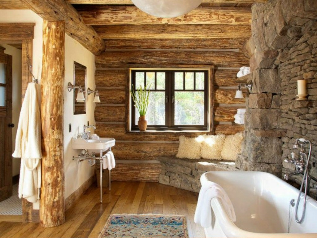 Ванная в деревянном доме — правила отделки, подвода коммуникаций и размещения основных элементов ванной комнаты (130 фото)