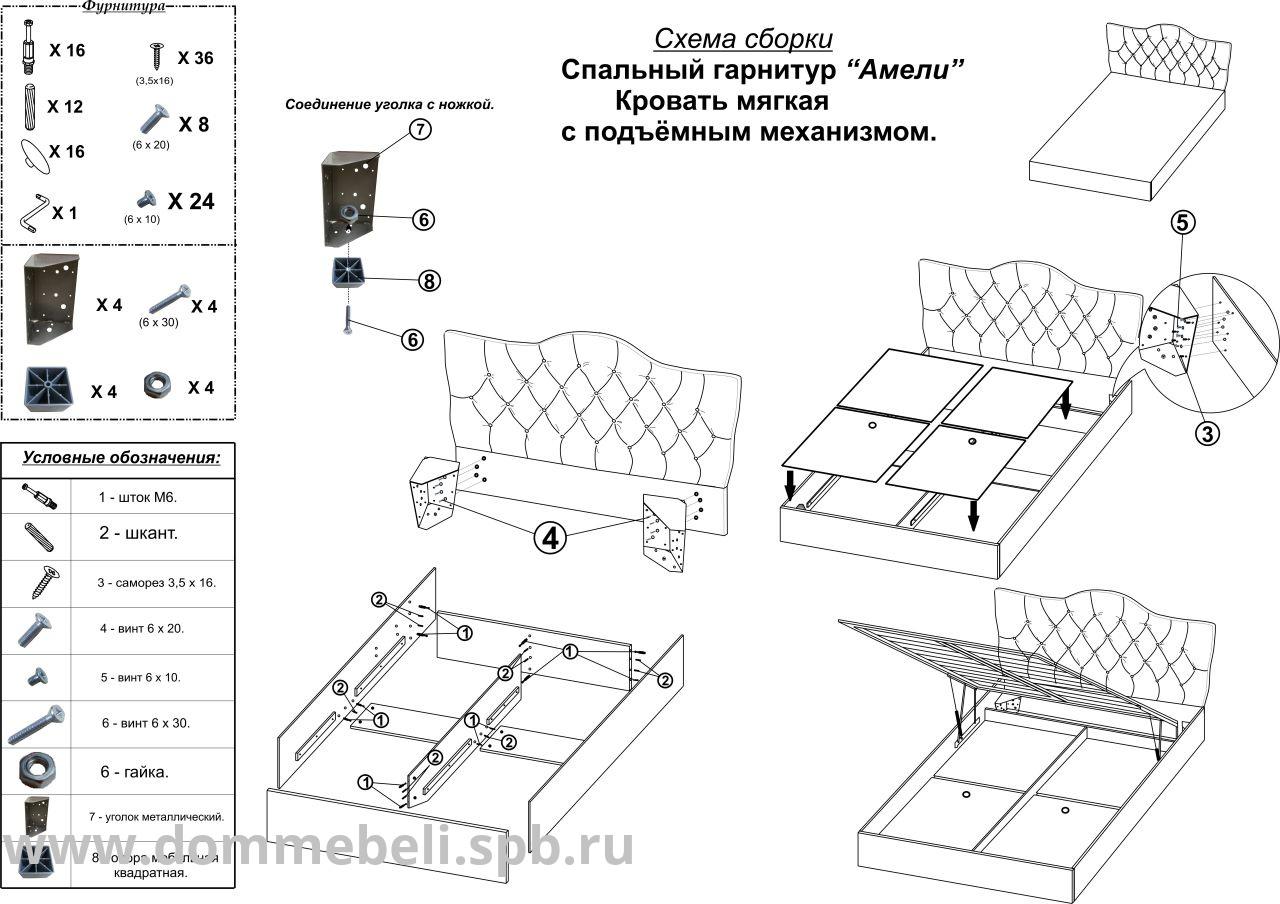 Пошаговая инструкция, как собрать двуспальную кровать и избежать ошибок