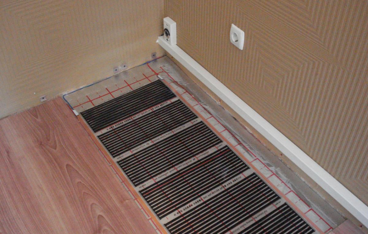 Теплый пол под ламинат на деревянный пол какая система лучше  инструкция по монтажу