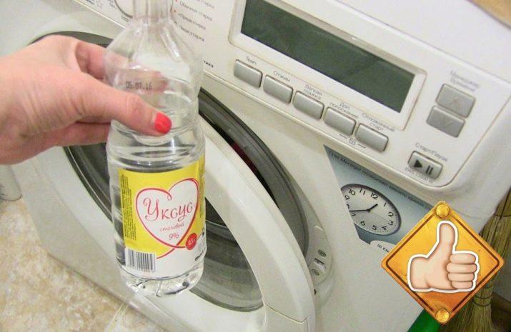 Как проводится чистка стиральной машины уксусом