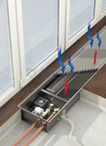 Монтаж и установка внутрипольных конвекторов