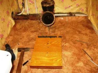 Установка унитаза на деревянный пол в частном доме