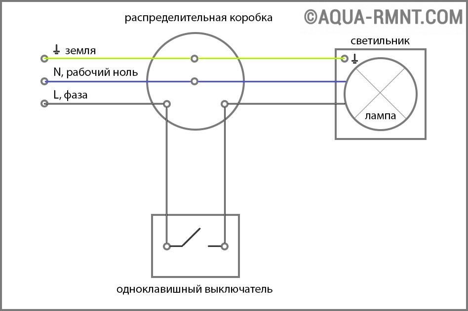Подключение двойного выключателя с подсветкой