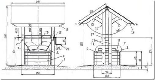 Оформление колодца: колодезный домик (открытый - закрытый) + фото