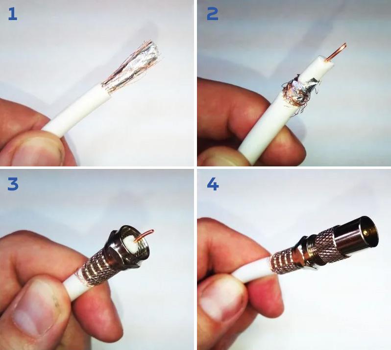 Как удлинить антенный кабель