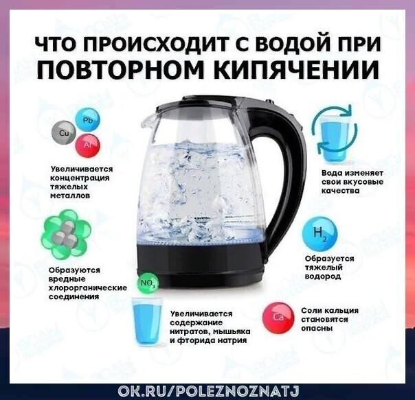 Почему нельзя кипятить воду дважды: объяснения ученых