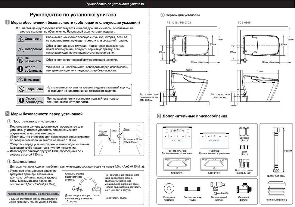 Инструкция по установке унитаза