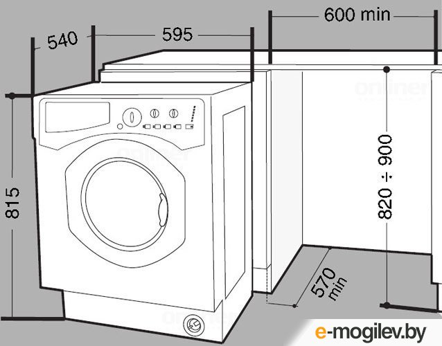 Размеры стиральной машины автомат – габариты: высота, ширина, глубина