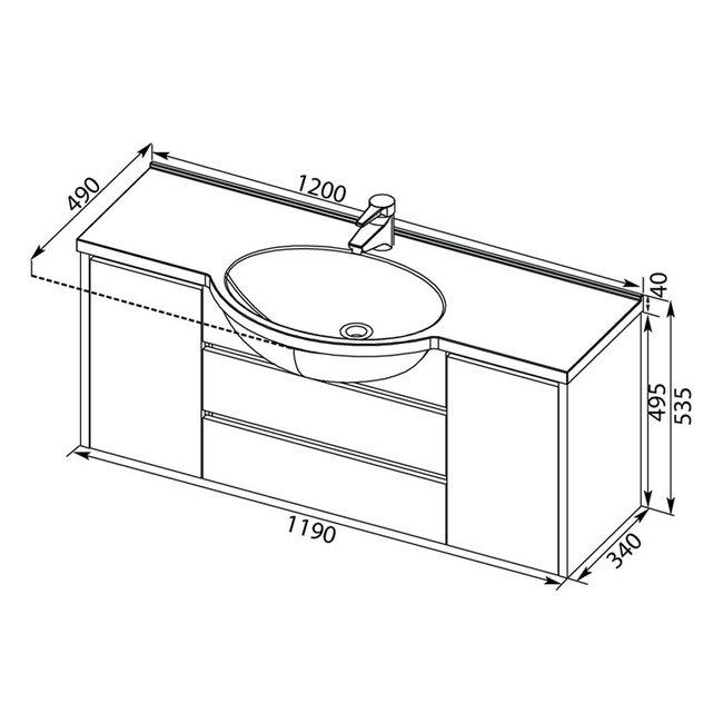 Размеры раковины: стандартные габариты умывальника для ванной комнаты, маленькие и модели необычно формы, ширина 80 и 120 см, глубина 40 и 50 см