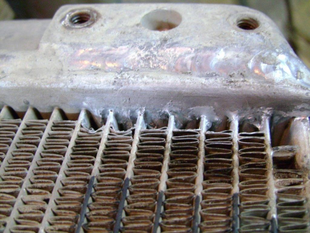 Пайка алюминиевого радиатора отопления