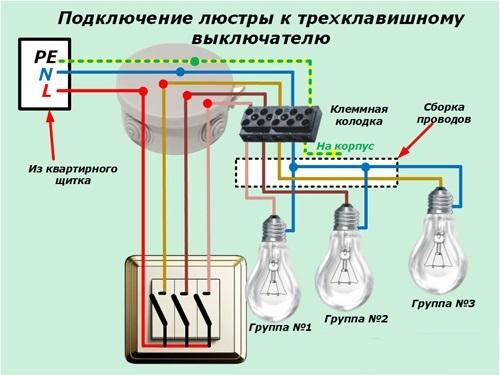Как выбрать и правильно подключить трехклавишный выключатель — рассматриваем тщательно