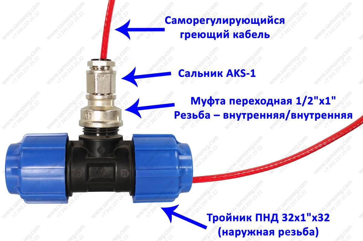 Греющий кабель для водопровода: преимущества и недостатки, монтаж