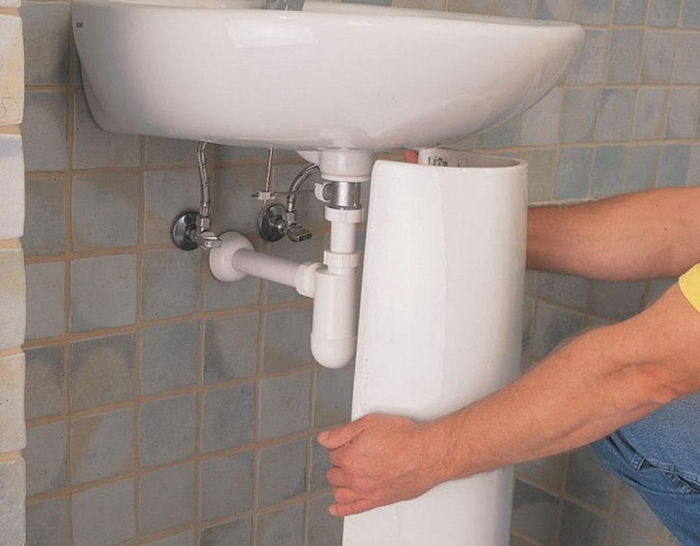 Простая инструкция монтажа раковины на стену