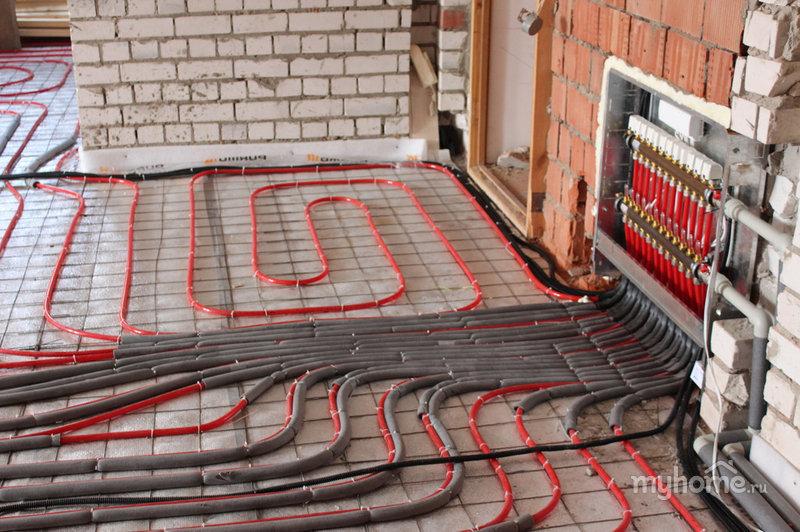 Теплый пол на даче с водяным обогревом. как сделать своими руками.