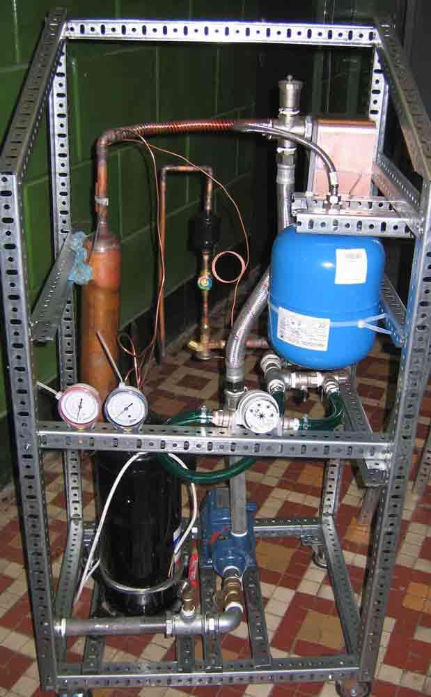 Тепловой насос из старого холодильника