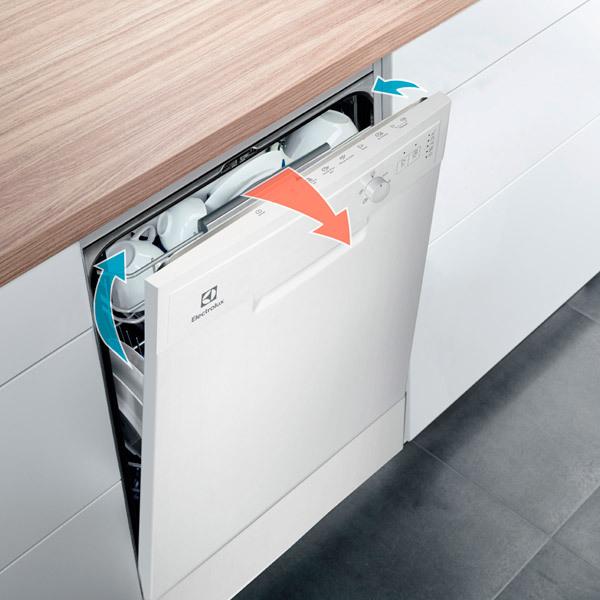 Обзор посудомоечной машины electrolux esf9423lmw: набор необходимых опций по демократичной цене
