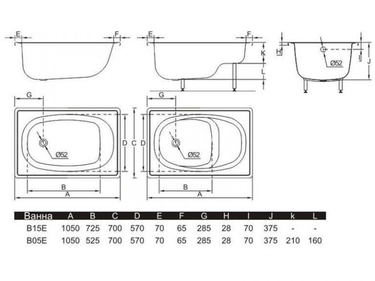 Сидячие ванны для маленьких ванных комнат: размеры, материалы фото