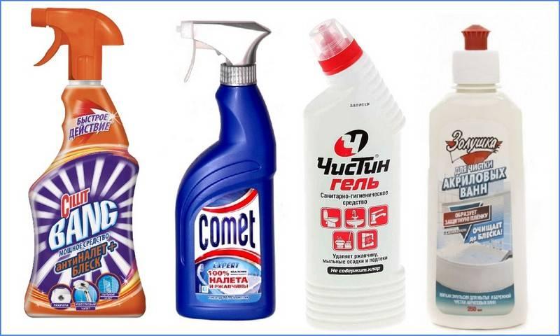 Средства для чистки акриловых ванн: обзор эффективных вариантов