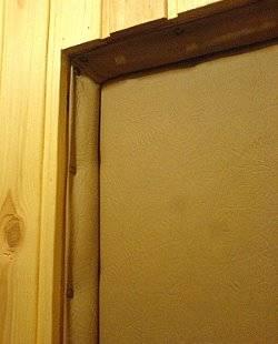 Утепление входной деревянной двери – в дом будет тепло!