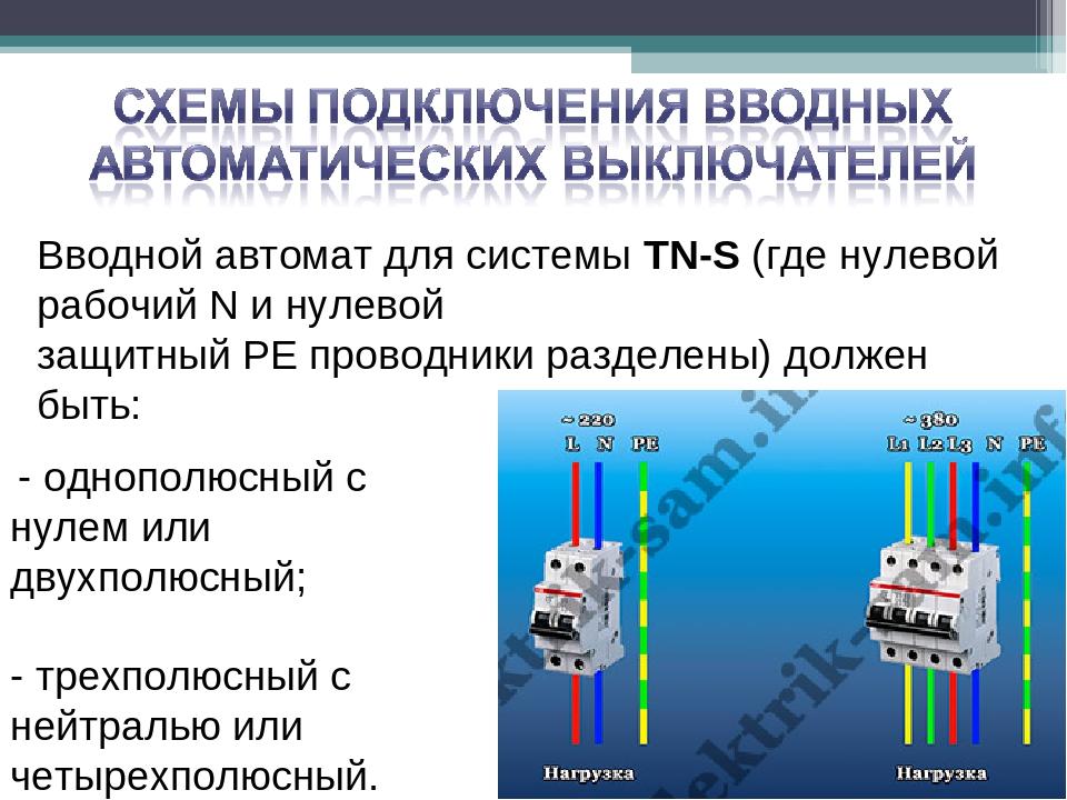 Правильное подключение автоматического выключателя к сети