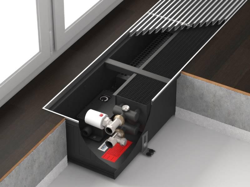 Внутрипольные конвекторы отопления водяные  - технические характеристики и цена
