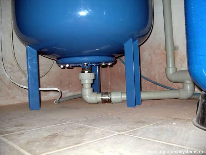 Подключение гидроаккумулятора в систему водоснабжения своими руками - точка j