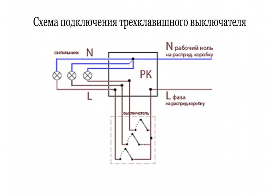 Как подключить трехклавишный выключатель: правила и советы как самостоятельно разобраться в схеме подключения (видео + 125 фото)
