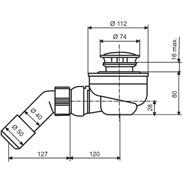 Сифон для душевой кабины с поддоном – виды и особенности