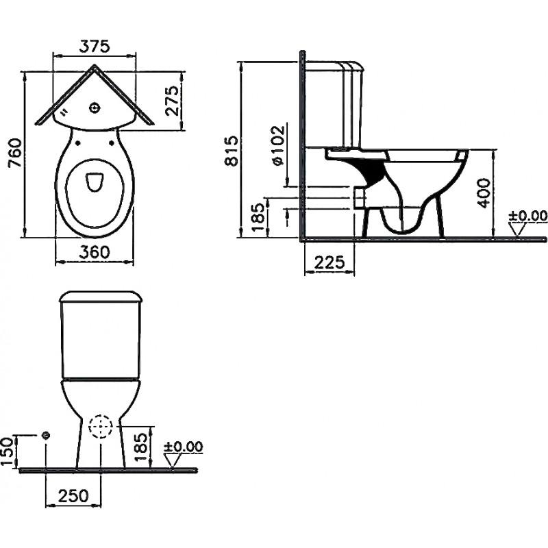 Угловой унитаз с бачком – виды, особенности конструкции, варианты монтажа