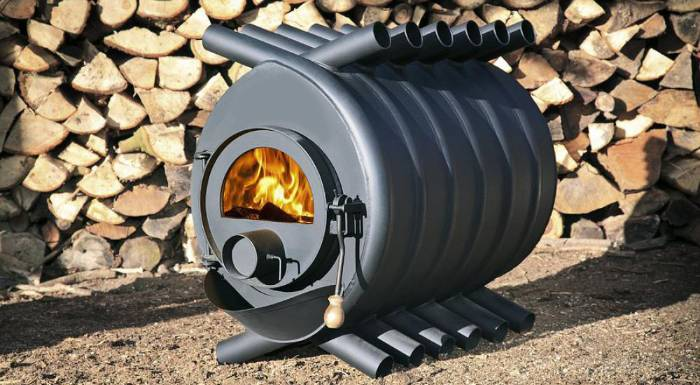 Печь длительного горения на дровах: самодельная конструкция из подручных материалов