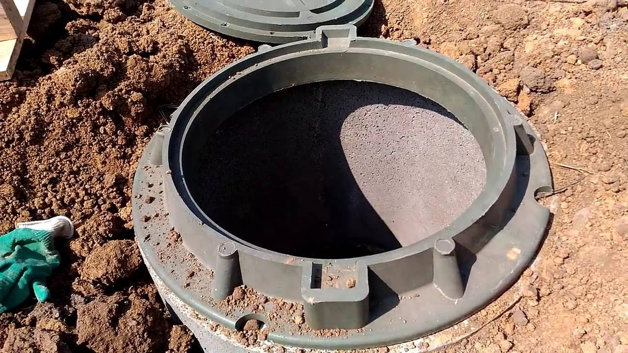 Устройство канализационного колодца из бетонных колец своими руками