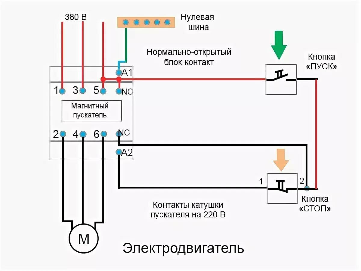 Схема подключения магнитного пускателя | способы подсоединения и проверка работы (видео + 145 фото)