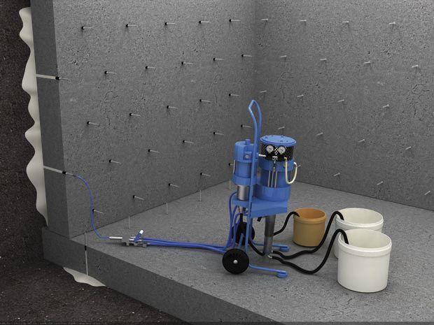 Инъектирование трещин бетона