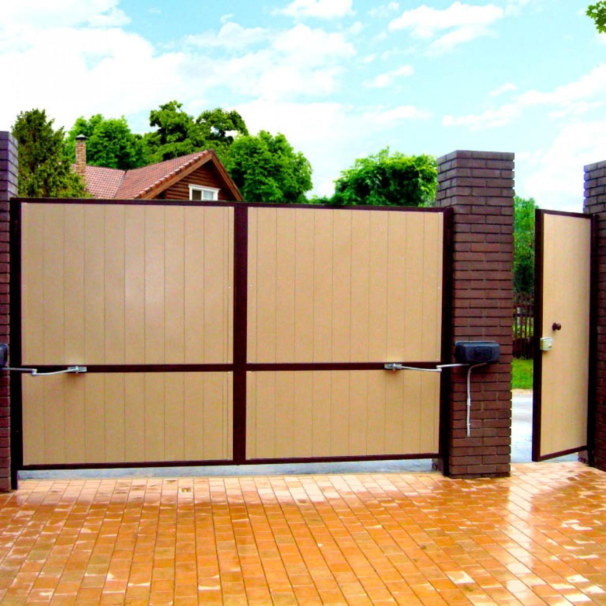 Красивые ворота и калитки для частных домов — расписываем суть