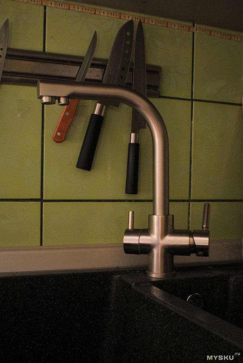Установка смесителя на кухне пошаговая инструкция