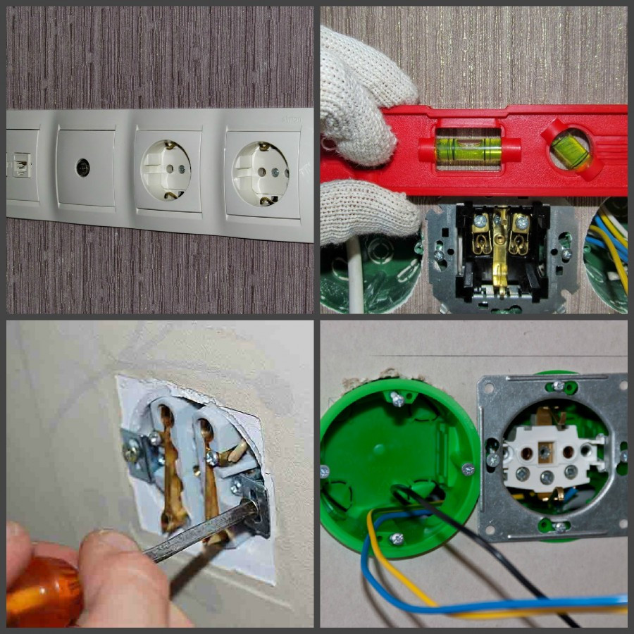 Установка розеток и выключателей своими руками: в гипсокартон и бетонную стену