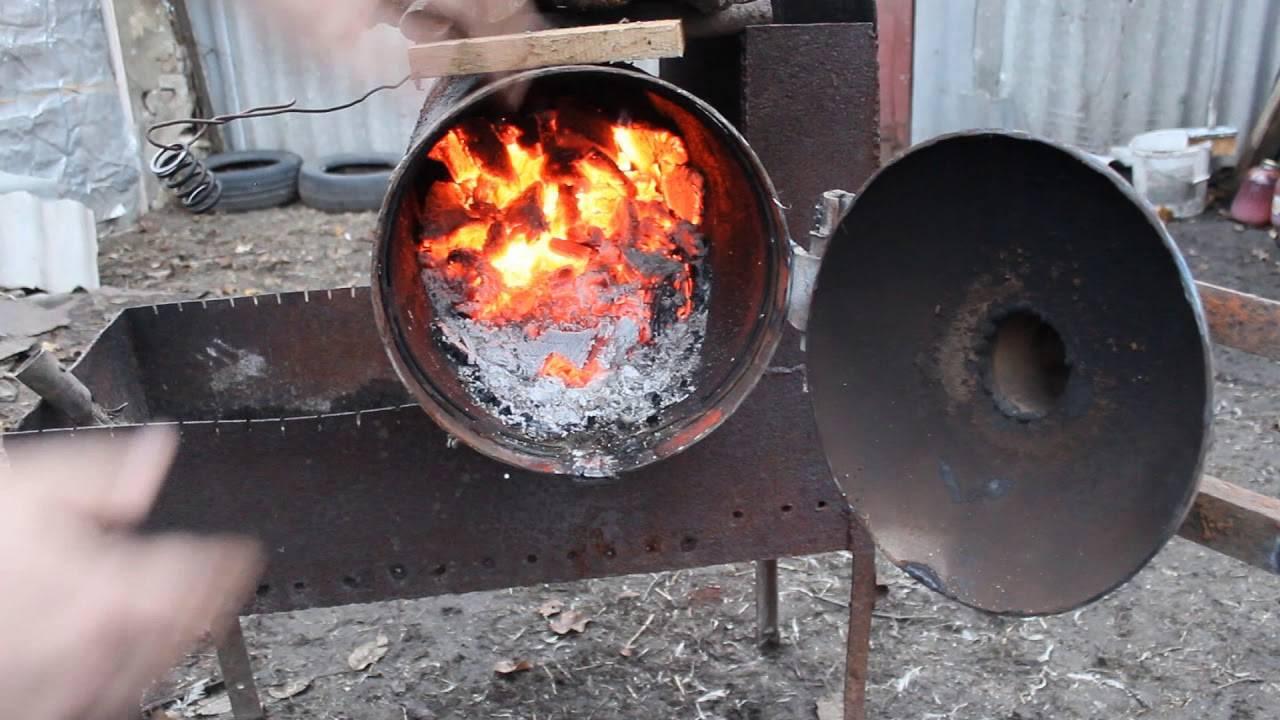 Буржуйка из газового баллона на дровах: своими руками, фото, чертежи, на дровах